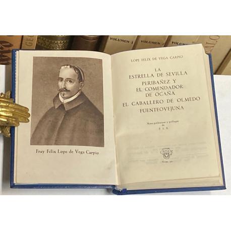 Cuatro obras teatrales (La estrella de sevilla, Peribáñez y el comendador de Ocaña, El caballero de Olmedo y Fuenteovejuna).