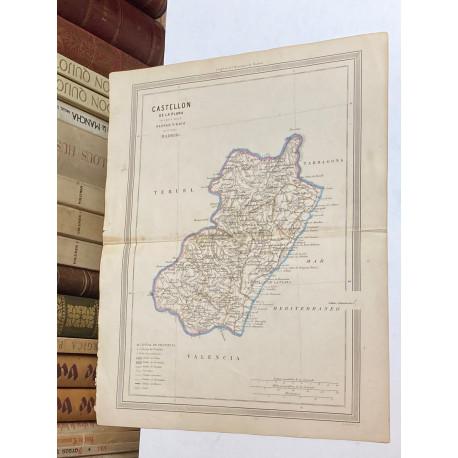 Mapa de CASTELLÓN perteneciente al Atlas Geográfico de España.