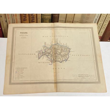Mapa de VIZCAYA perteneciente al Atlas Geográfico de España.