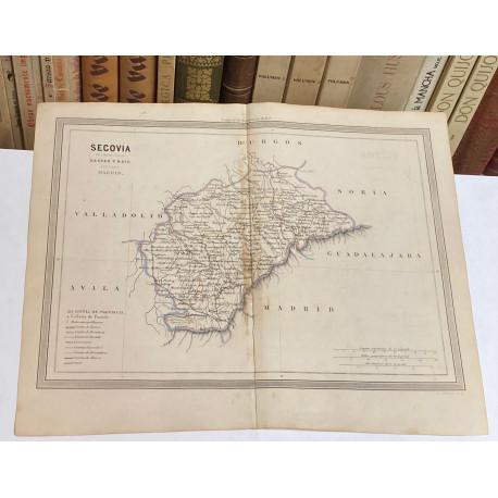 Mapa de SEGOVIA perteneciente al Atlas Geográfico de España.