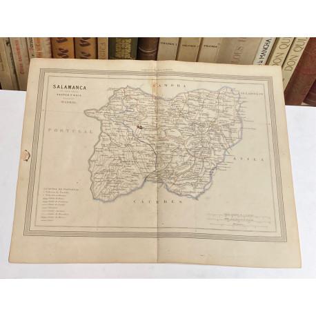Mapa de SALAMANCA perteneciente al Atlas Geográfico de España.