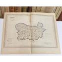 Mapa de ORENSE perteneciente al Atlas Geográfico de España.