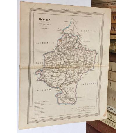 Mapa de NAVARRA perteneciente al Atlas Geográfico de España.