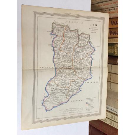 Mapa de LÉRIDA perteneciente al Atlas Geográfico de España.