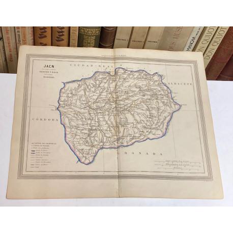 Mapa de JAÉN perteneciente al Atlas Geográfico de España.