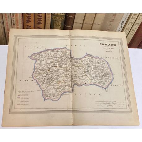 Mapa de GUADALAJARA perteneciente al Atlas Geográfico de España.
