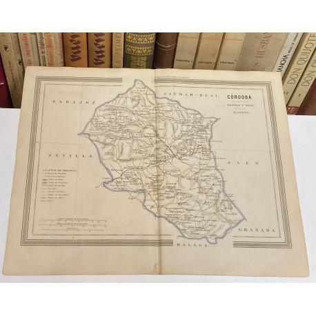 Mapa de CÓRDOBA perteneciente al Atlas Geográfico de España.