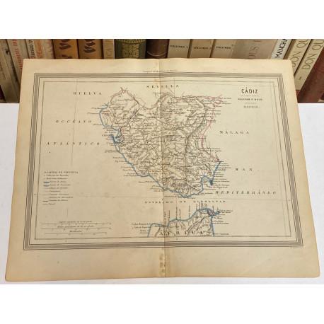 Mapa de CÁDIZ perteneciente al Atlas Geográfico de España.