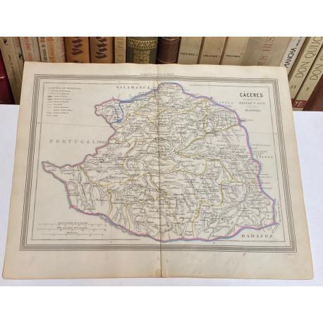 Mapa de CÁCERES perteneciente al Atlas Geográfico de España.