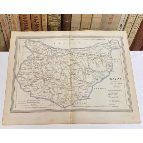 Mapa de BADAJOZ perteneciente al Atlas Geográfico de España.