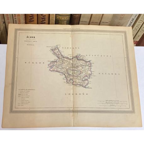 Mapa de ÁLAVA perteneciente al Atlas Geográfico de España.
