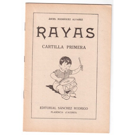 Rayas. Cartilla primera.