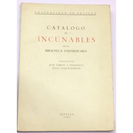 Catálogo de Incunables de la Biblioteca Universitaria.
