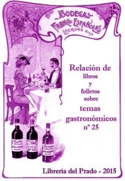 Catálogo nº 25 Librería del Prado